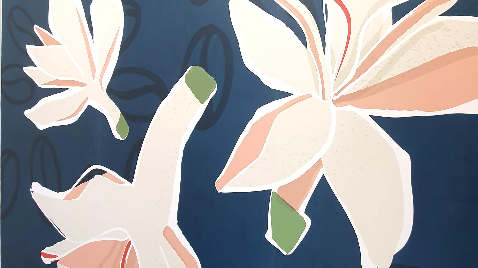 Fresques Les Muses pour Café Sati, détail