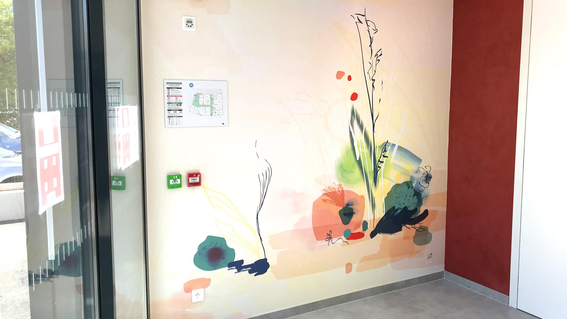 Les Muses, création florale et végétale sur-mesure pour le hall d'accueil d'Opus 67 à Bischheim