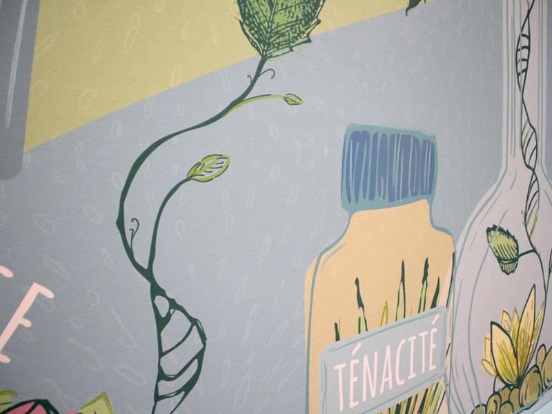 décoration murale coloré accueil dutscher